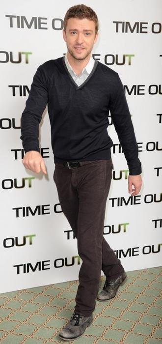 Justin Timberlake til pressemøde for filmen Time Out