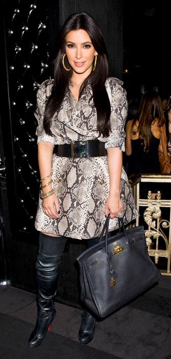 Kim Kardashian spottet i Pyton-look i New York