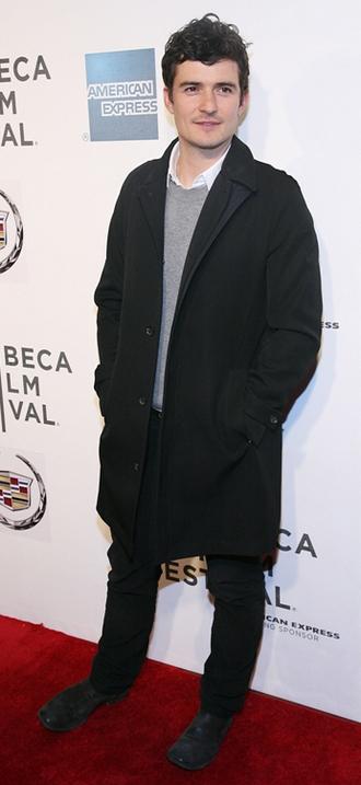 Orlando Bloom på den røde løber ved Tribeca Film Festival
